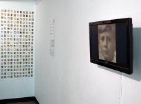 One Hour, 2011, digital prints on photographic paper & DVD screen, The Spring Arts & Heritage Centre
