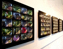 Thinking Path (detail), 2004, Glass lenses, polypropylene and digital print Shrewsbury Museum and Art Gallery