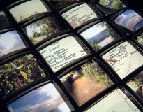 Thinking Path (detail), 2003, Glass lenses, polypropylene and digital print